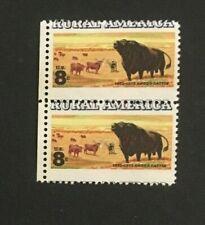 #1504 8 cent Rural America Misperf. pair  Mint NH OG
