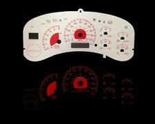 Red Reverse Glow Gauge Face For 99-02 Silverado Full Size Pickup Truck