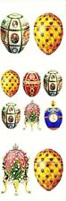~ Faberge Russian Czar Eggs Patterned Gold Blue Paper House StickyPix Stickers ~