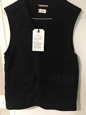 Apolis Global Citizen Charcoal Waxed Cottton Vest Small