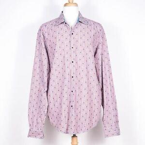 Robert Graham Embroidered Cotton Gingham Button-Up Dress Shirt - SZ 2XLT