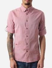 G-STAR Pale CARDINAL Red Cotton LAKEWOOD EMPIRE ROLL UP Sleeve Shirt XXL 2XL
