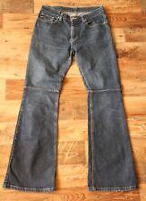 Ladies RALPH LAUREN LOW RISE KNEE SEAM Blue Stretch Jeans Size 8 W30 L32