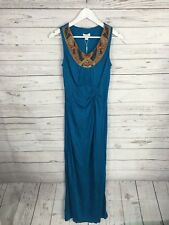 MONSOON Maxi Dress - Size UK8 - Turquoise - New with Tags