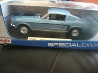 MAISTO 1968 FORD MUSTANG GT COBRA JET 1:18 SCALE DIE-CAST Special Edition