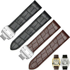 Genuine Leather Strap For Cartier Santos100 Watch Band Wristband 20/23/24mm