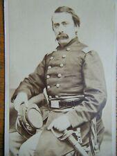 Armed Field Grade Officer w/ Sword & Kepi 26th Inf ~ original cdv Photograph