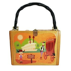 Disneyland 50th Anniversary Frontierland Wooden Purse by SHAG LE