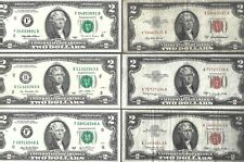 US ✨ Small Size Notes ✨ 1953A 1953C 1963 1995 2003A 2013 ✨ $2 x 6 Banknotes