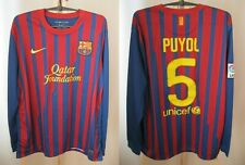 5+/5 FC Barcelona #5 Puyol 2011/2012 home Size XL maillot shirt jersey soccer
