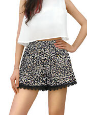 Lace Lace Regular Size Shorts for Women