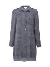 White Stuff Womens Grey Mineral Tunic Shirt Blouse Size UK 12