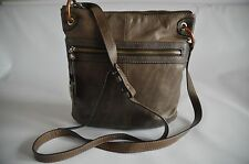 COCCINELLE WOMEN'S BEIGE LEATHER VINTAGE SATCHEL/MESSENGER/CROSS BODY BAG