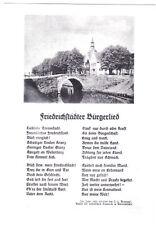 AK, Friedrichstadt, Teilansicht mit Brücke, Friedrichstädter Bürgerlied, um 1980