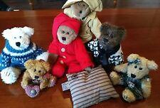 Boyd's Bears Lot! 6 Boyds Bear Plush Animals