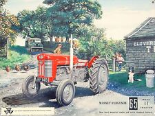 Massey Ferguson 65 Tractor Farming Vintage Metal Tin Sign Gift Present (255)