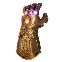 AU Avengers Infinity War Infinity Gauntlet LED Light Thanos Gloves Cosplay Prop~