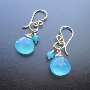 Mini Hoop Double Earrings – You Choose Gemstone