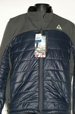 Men's GERRY Hybrid Two Tone Soft Shell Full Zip Jacket Navy Gray L Water Wind
