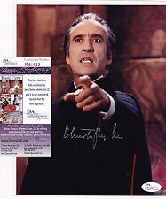 Christopher Lee Dracula Hammer Films Signed 8x10 Photo JSA Certified A