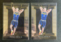 MICHAEL PORTER JR (x2) LOT 2018-19 Panini SELECT Denver Nuggets Rookie RC - NBA