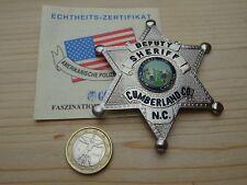 Deputy Sheriff Cumberland Co. N.C. Police Police Polizia Policía pucelle de sapeur badge