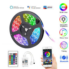 5M RGB LED Smart WIFI Flex Strip Light Mobile App Voice Control Lamp For Alexa