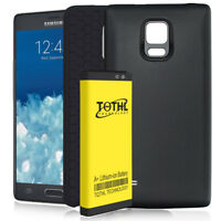 7300mAh Extended Battery + TPU + Black Cover For Samsung Galaxy Note Edge N915T