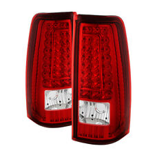 New Chevy 99-02 Silverado 99-03 GMC Sierra Red Clear LED Tail Lights Left +Right