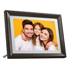 Digital Picture Frame WiFi 10 inch IPS Touch Screen HD Display, choco brown