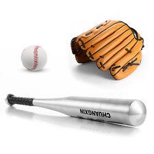 24'' Aluminum Alloy Baseball Bat Racket Softball + 10.5'' Glove + 9'' Ball Kit