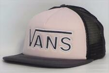 Vans Off The Wall Drop V Womens Pale Pink Snapback Trucker Hat NEW NWT