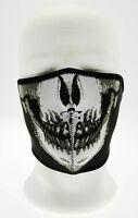 Comfort Mask Moitié Tactique Crâne Death Crane Noire en Néoprène