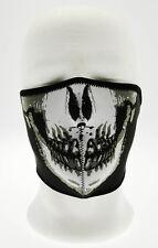 Comfort Mask Half Tactical Skull Death Teschio Nera Neoprene