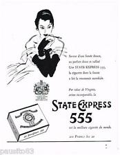 PUBLICITE ADVERTISING 105  1956  STATE EXPRESS 555  cigarettes