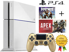 WHITE Sony PlayStation 4 PS4 500GB Gaming Console FORTNITE APEX LEGEND WARZONE!!