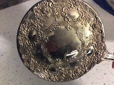 Vintage Silver Plated Decorative Hand Held Mirror/Looking Glass
