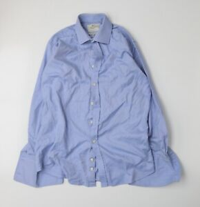 Hawes & Curtis Mens Blue    Dress Shirt Size 15.5