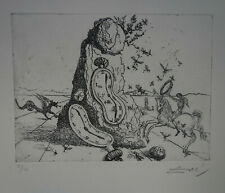 Limited edition etching, Surrealism Soft Watch, signed Salvador Dali w DOCS