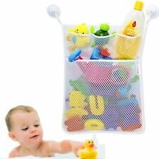 Kids Bath Time Toy Tidy Storage Suction Cup Bag Mesh Bathroom Organiser EasemeBN