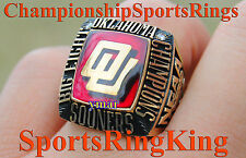 1984 OKLAHOMA SOONERS OU NCAA BIG 8 BASKETBALL CHAMPIONSHIP 10K GOLD RING  RARE