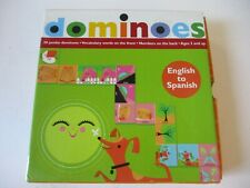 Waldorf Montessori English To Spanish Dominos 2 sided #s & Pictures Game