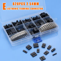 620pcs Dupont Wire Jumper Pin Header Connector Housing Kit + M/F Crimp Pins CAO