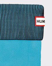 Hunter Boot Socks Tall Fleece Blue Black Stripe Size M Medium 5 - 7 New
