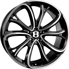 """21"""" SSR III 3 ALLOYS FITS BENTLEY CONTINENTAL GT FLYING SPUR BLACK POLISHED"""