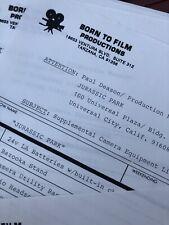 Jurassic Park - Production Used - Film Memorabilia- 1990s