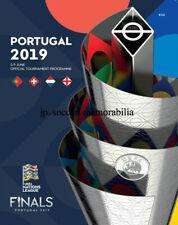 Official UEFA Nations League 2019 Finals Programme. England v Holland / Portugal