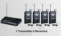 Takstar In-Ear WPM-200 6 CH Wireless Monitor System & Transmitter & 4 Receivers