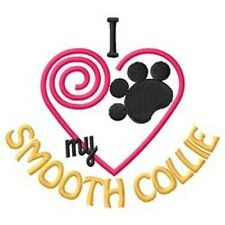 """I """"Heart"""" My Smooth Collie Short-Sleeved T-Shirt 1297-2 Size S - Xxl"""