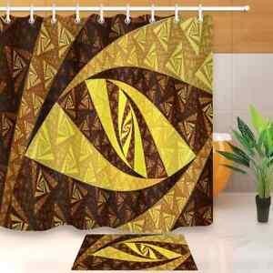 Golden Eye Waterproof Bathroom Polyester Shower Curtain Liner Water Resistant